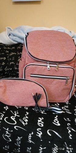 Diaper Bag Backpack with USB Phone Charger photo review