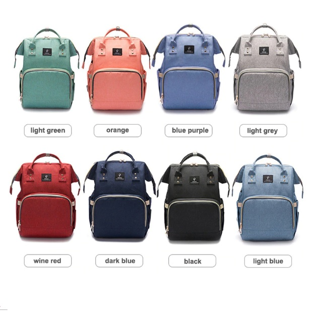 ec0dec5388e0 Backpack Diaper Bag USB Phone Charger Diaper Bag Backpack Multi-Function  Large Capacity Backpack Diaper Bag with Stroller Straps