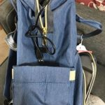 Diaper Bag Backpack with USB Phone Charger, Insulated Bottle Keeper & Stroller Straps
