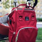 Pofunuo Diaper Bag Backpack with USB Phone Charger & Stroller Straps