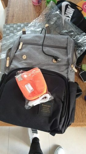 Famicare Diaper Bag Backpack with USB Bottle Warmer & Phone Charger photo review