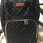 Diaper Bag Backpack Polka Dots Design with Changing Pad