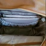 Leather Diaper Bag Backpack with Changing Pad & Stroller Straps