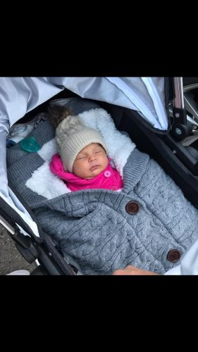 Baby Warm Blanket Swaddle Wrap with Stroller Hand Warmer photo review
