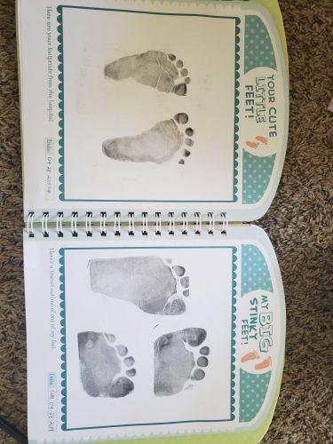 Baby Handprint & Footprint Ink Pad Memory photo review
