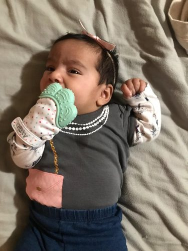 Silicone Baby Teether Pacifier Glove photo review