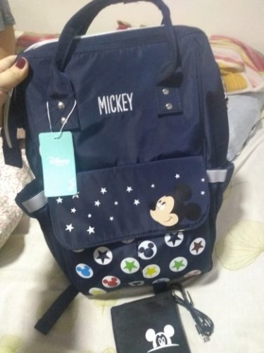 Disney Diaper Bag Backpack Mickey & Minnie Baby Bag photo review
