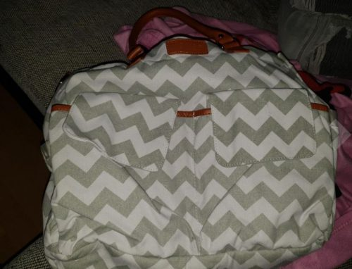 Diaper Tote Bag with Changing Pad, Bottle Warmer & Stroller Straps photo review