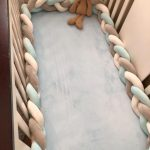 Braided Baby Crib Bumper Knitted Safe Cradle Bumper photo review
