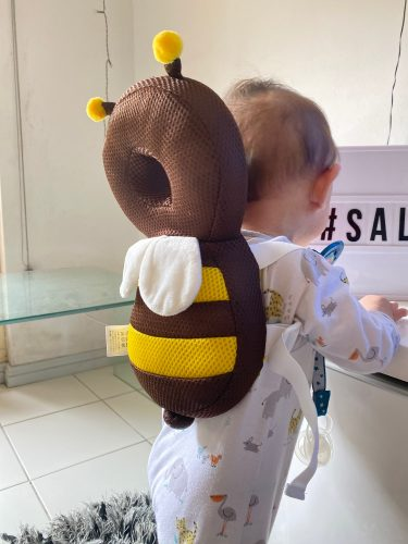 Toddler Baby Head Protection Cushion Backpack Wear - Bee photo review