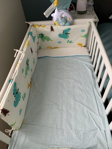 Baby Safe Crib Bumpers Blue Stars photo review