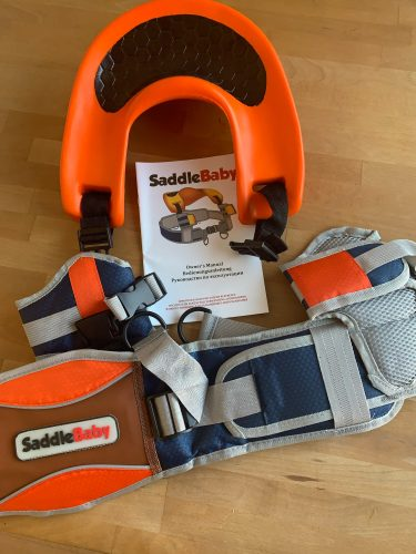 Baby Hands-Free Shoulder Carrier with Ankle Straps photo review