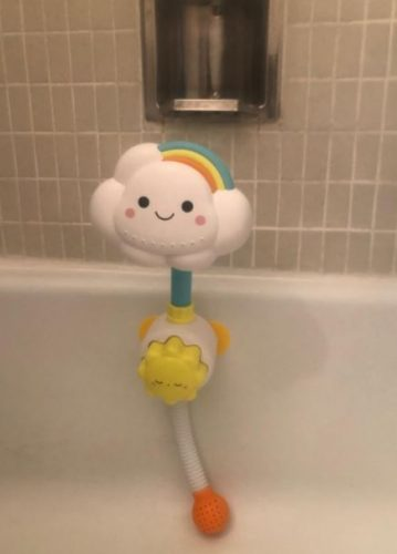 Baby Bath Toy Lovely Cloudy Bathtub Shower Toy Water Spray Head Game for Toddlers photo review