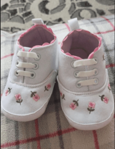 Baby Girl White Lace Floral Shoes photo review