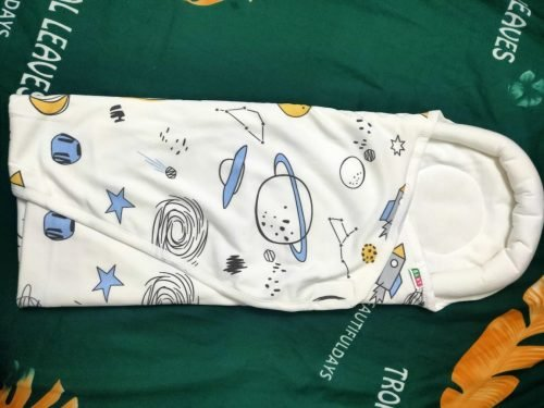 Baby Sleeping Bag Blanket Swaddle Sleep Sack with Head Protection Area photo review