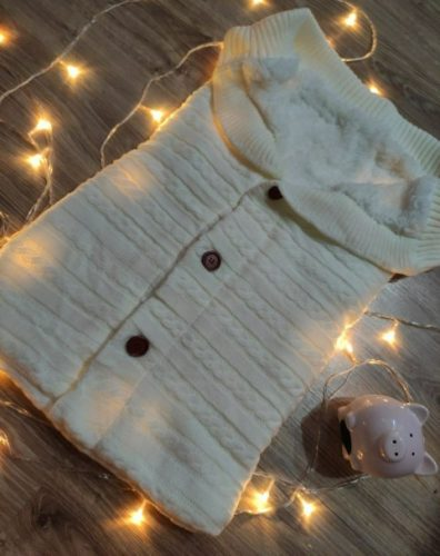 Knitted Baby Warm Swaddle Blanket Sleeping Bag photo review