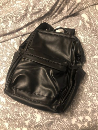 All in One Leather Diaper Bag Backpack photo review