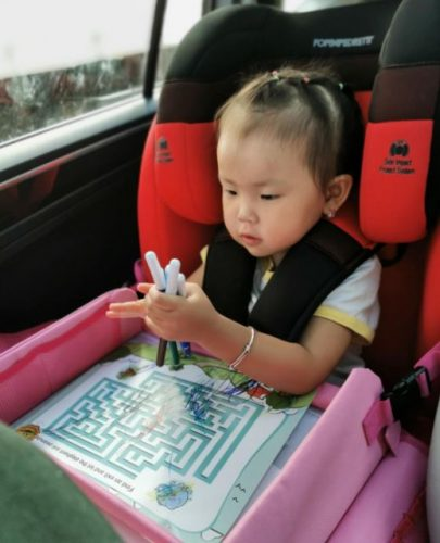 Kids Car Seat Travel Tray Baby Portable Plates with Storage photo review