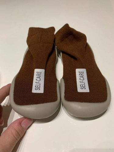 Baby First Walking Shoes Socks Anti Slip Soft Rubber Sole photo review