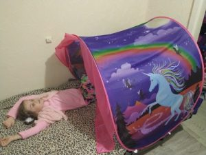Kids Foldable Night Sleeping Dream Bed Tents photo review