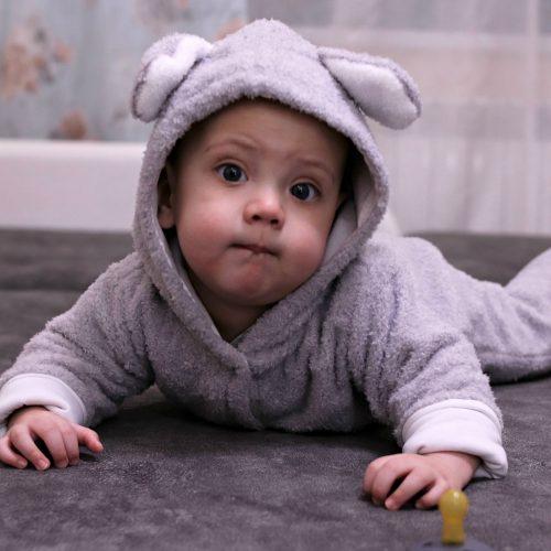 Baby Warm Romper Jumpsuit Cotton Cartoon Snowsuit photo review