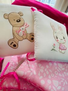 6 Panels Baby Safe Crib Bumpers Cartoon Animal photo review