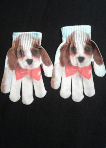 Kids Animated Animal Gloves Warm Winter Cute Mittens photo review