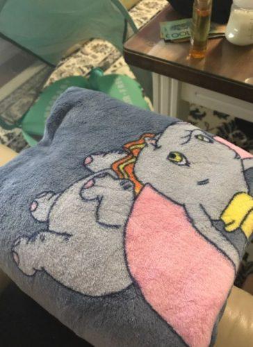 Dumbo Blanket Soft Warm Coral Fleece photo review