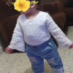 Baby Girl Clothes Set Long Sleeve Shirt with Jeans Denim Pants photo review