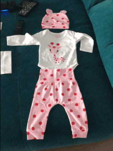 Baby Girl Polka Dot 3 Pack Set photo review
