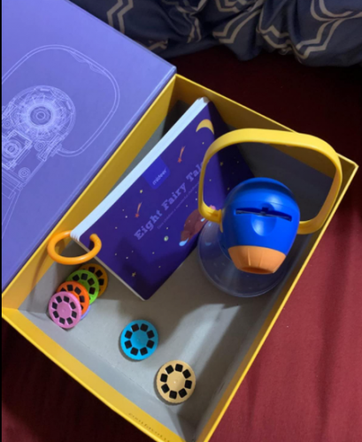 Kids Multifunctional Storybook Night Lights Projector Toy photo review