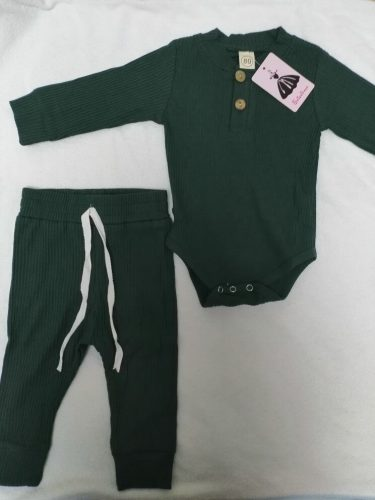 Baby Ribbed Solid Long Sleeve Bodysuits + Elastic Pants photo review