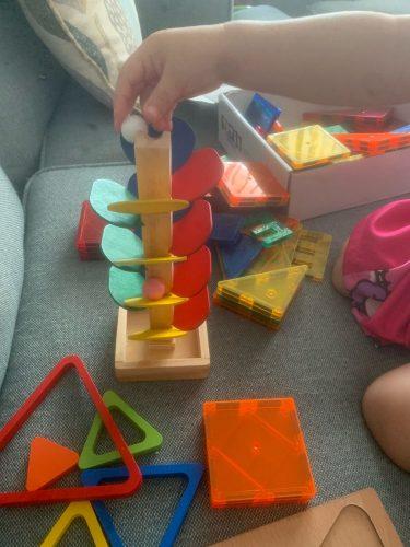 Wooden Tree Marble Ball Run Montessori photo review