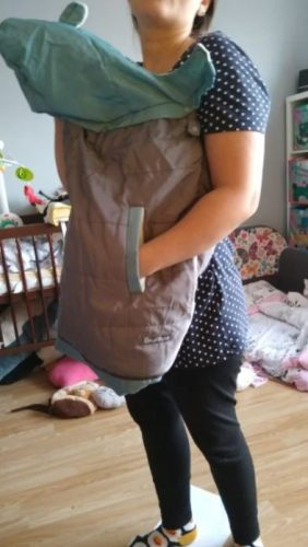 Baby Carrier Cover Cloak Ergonomic Thick Windproof Hoodie photo review