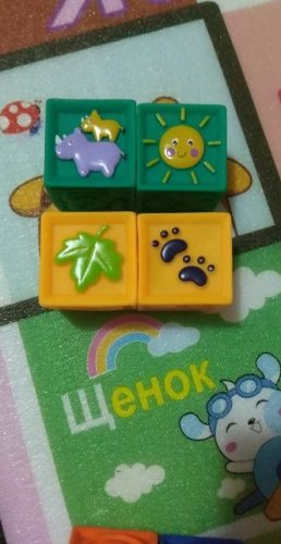 Eductional Baby Soft Rubber Building Blocks Toys photo review