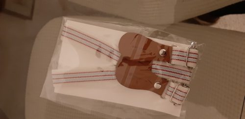 Baby Boy Gentleman Soft Cotton Solid Romper + Belt Pants Set photo review