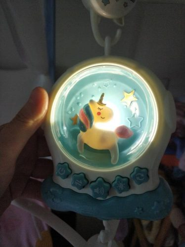 Baby Musical Crib Mobiles Educational Toys Rotating Bed Bell Nightlight photo review