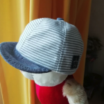 Fashion Striped Summer Beach Caps for Baby UV Protection photo review