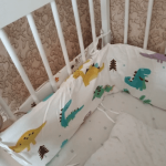 Baby Safe Crib Bumpers Pink & Bear photo review