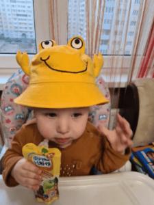 Baby Summer Beach Outdoor Sun Hat Toddler Monster Cap photo review