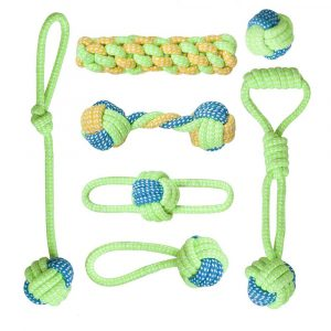 7Pack Dog Chewing Ball Rope Teeth Cleaning Interactive Toys