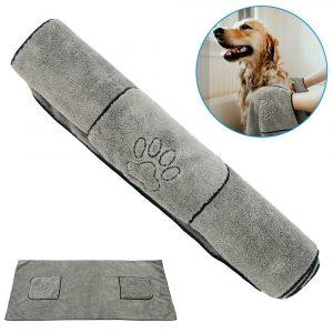 Dog Towel Super Absorbent Microfiber Quick-Drying Bath Towel