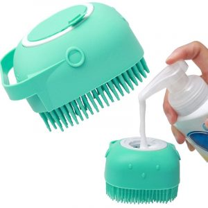 Pet 2 in 1 Soft Silicone Shampoo Scrubber Brush