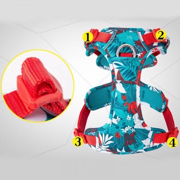 No Pull Dog Harness Vibrant Color Vest Reflective Soft