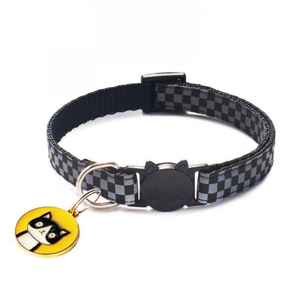 Cat Collar Pendants Adjustable Nylon Buckles Reflective