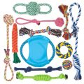 12PCS Dog Large Chew Rope Chewing Teeth Clean Toys Set