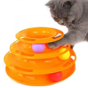 Cat Toy Interactive Play Circle Track Satisfies Moving Balls