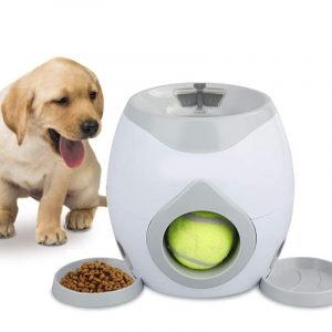 Dog Tennis Ball Reward Machine IQ Toy Training Indoors or Outdoors