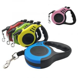 Retractable Dog Leash 16.5FT (5m) Printed Bone For Walking and Training