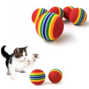 5 PCS Rainbow Ball Cat Toy